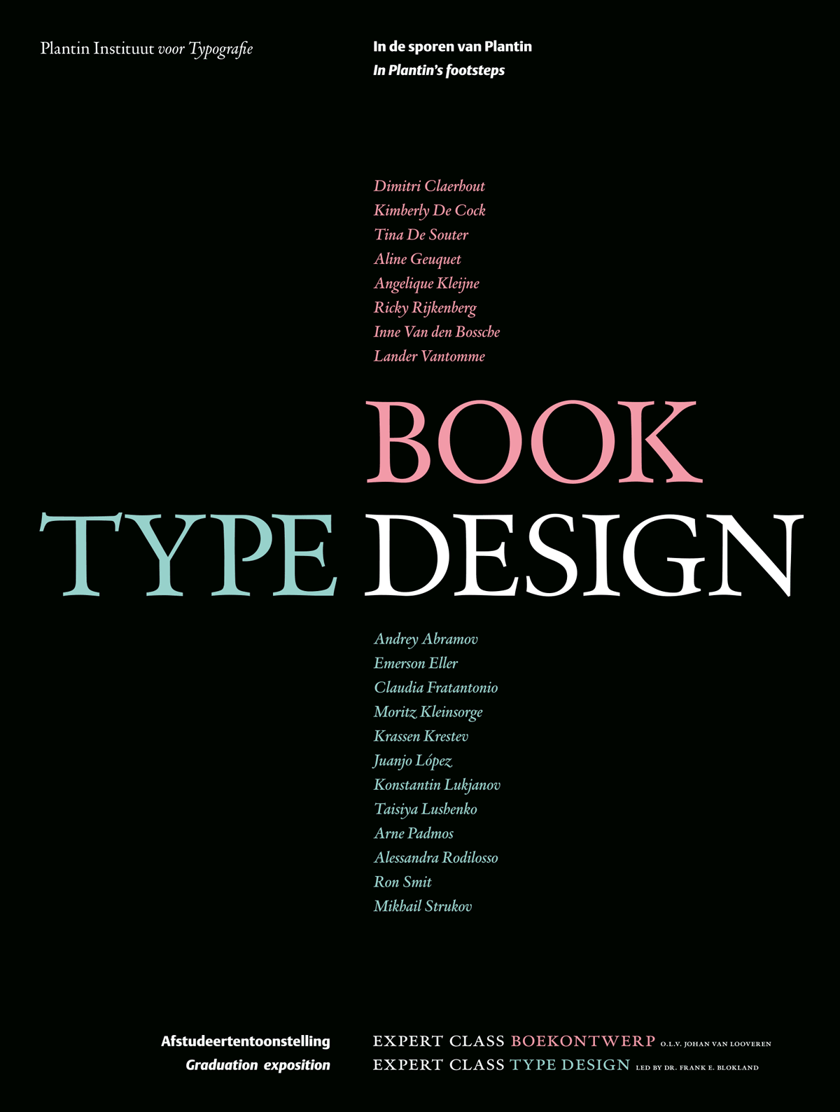 Book/Type design. In de sporen van Plantin