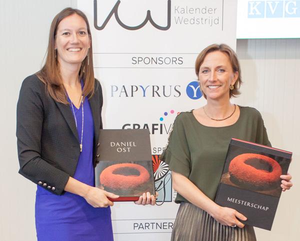 Els Vansteenkiste (Something Els) en Anne-Sophie De Smet (Dios Print Solutions) met de Febelgra-prijs.