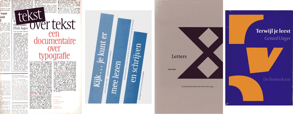 Enkele publicaties van Gerard Unger