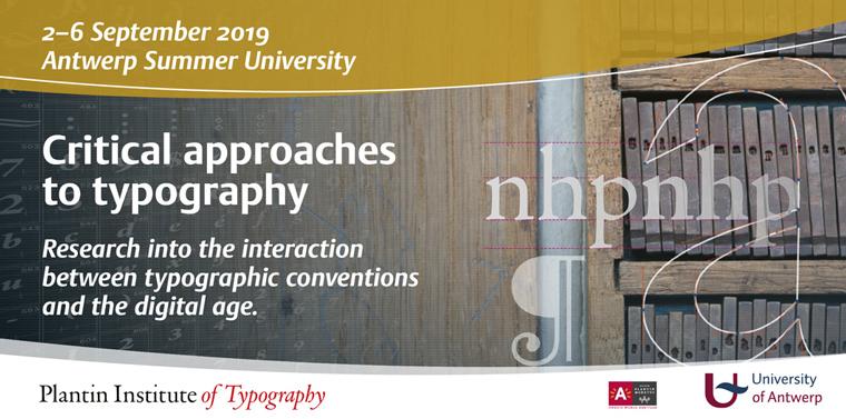 Typography Summerschool UAntwerp en Plantin Instituut
