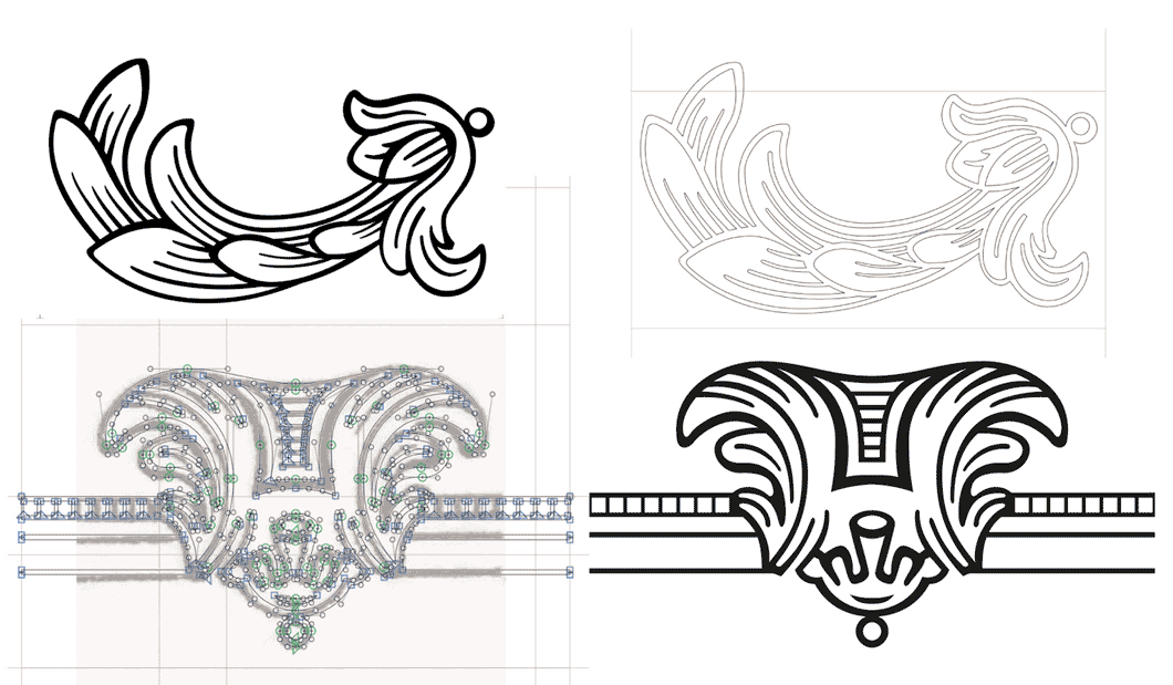 Gedigitaliseerde ornamenten van Rosart